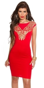Červené dámské šaty in-sat1155re