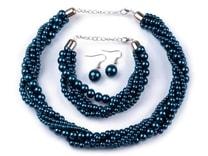 Náhrdelník, náramek a náušnice z voskovaných perel