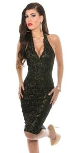 Elegantní šaty černé in-sat1162bl