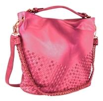 Unikátní kombinovaná kabelka 3091 růžovo-červená