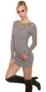 Úpletové dámské šaty in-sat1199gr
