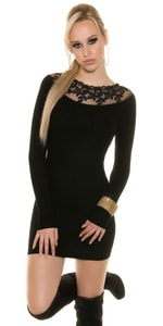Černé dámské mini šaty in-sat1199bl