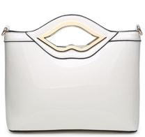 Bílá lakovaná kabelka do ruky A34206