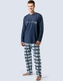 Dlouhé pánské pyžamo 79019P