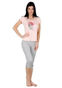 Dámské pyžamo capri kalhoty 60/2-58C Wonderful