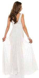 Plesové šaty s vlečkou in-sat1206wh