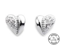 Náušnice srdce s broušenými kamínky