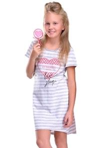 Dívčí noční košile s obrázkem srdce