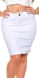 Džínová sukně pro plnoštíhlé in-su1062wh