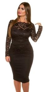 Krajkové dámské šaty in-sat1336bl