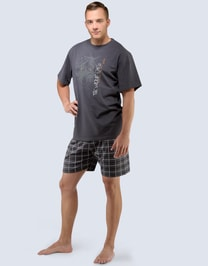 Pánské pyžamo krátké Vlk 79034P