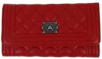 Prošívaná dámská peněženka DF029 červená