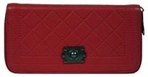Praktická dámská peněženka červená 8012