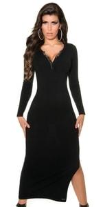Dámské úpletové šaty in-sat1194bl