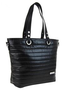 Prošívaná elegantní kabelka na rameno YH1605 černá
