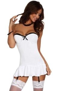 Erotické šaty Eveline white