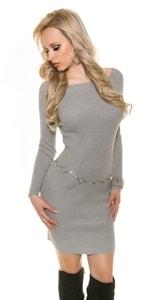Dámské šaty z úpletu in-sv1352gr
