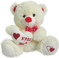 Medvídek Pusík 25cm se srdcem Kiss me s mašličkou