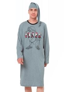 Pánská noční košile dlouhý rukáv Kokosz