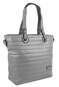 Prošívaná elegantní kabelka na rameno YH1605 šedá