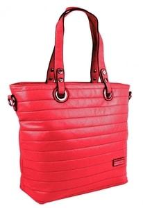 Prošívaná elegantní kabelka na rameno YH1605 červená