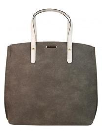 Šedo-béžová matná kabelka v anglickém stylu S612