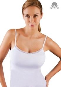 Dámská košilka na ramínka s krajkou Hesi