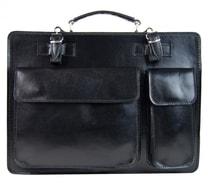 Moderní černá pánská aktovková taška z pravé italské kůže DIVA