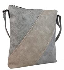 Designová crossbody kabelka H16201 světlá šedá