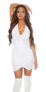 Dámské bílé šaty in-sat1405wh