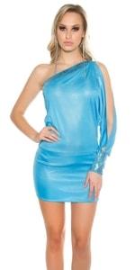 Sexy mini šaty na jedno rameno in-sat1135tu