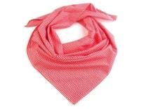 Bavlněný šátek s proužky 65x65 cm