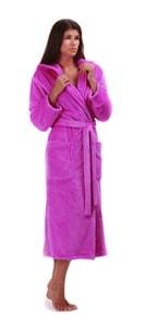 Župan s kapucí Siena fialová 31 56 4301