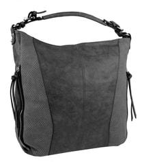 Moderní velká tmavě šedá dámská kombinovaná kabelka YH1649