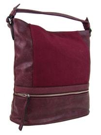 Moderní vínově červená dámská kombinovaná kabelka NH6058