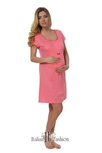 Dámská kojící noční košile Dagna pink