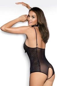 Erotické body Diamond teddy black