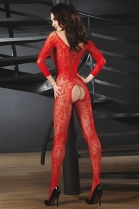 Bodystocking Abra red