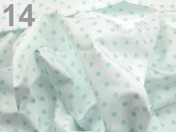 Stoklasa Bavlněný šátek 65x65 cm s puntíky - 14 zelená sv.