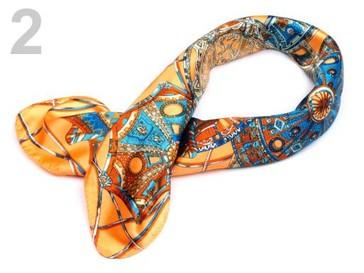 Stoklasa Saténový šátek 57x57 cm s potiskem - 2 viz foto