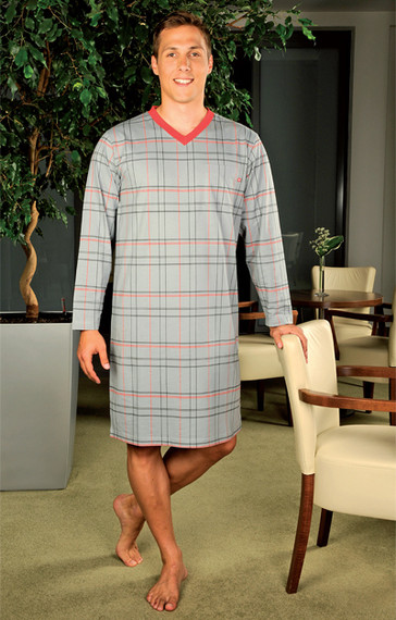Andrie Noční košile pro muže PS 9189 - šedá - M