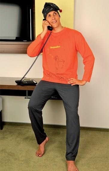Andrie Pánské pyžamo PS 9191 - oranžová - M