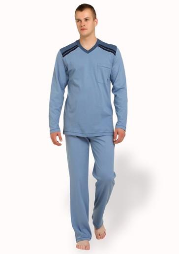 M-MAX Pánské pyžamo nadměrné velikosti LOLO - 750/ hnědá tmavá - 3XL