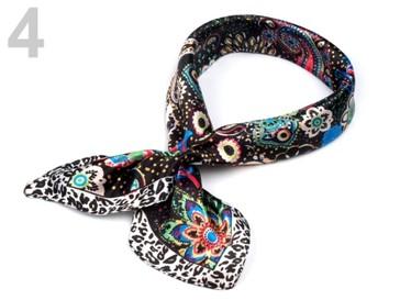 Stoklasa Saténový šátek 55x55 cm s potiskem - 4 černá