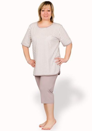Taro Dámské pyžamo Boženka nadměrné velikosti - 300/ růžová světlá - 2XL