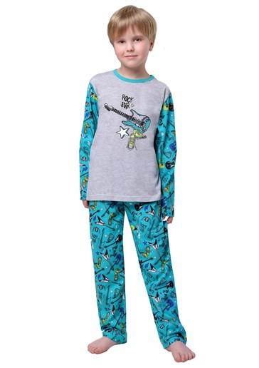 Taro Dětské pyžamo s obrázkem kytary - 602 zelená - 128
