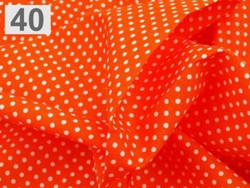 Stoklasa Bavlněný šátek 65x65 cm s puntíky - 40 oranžová
