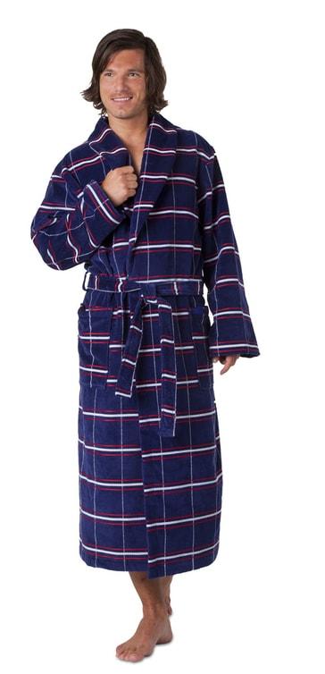 Vestis Pánský župan se šálovým límcem Oxford 21 12 - modrá - XL