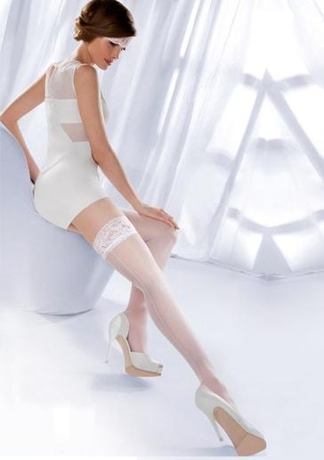 Gabriella Samodržící punčochy Princessa 05 - 000/ bílá (bianco) - 1/2