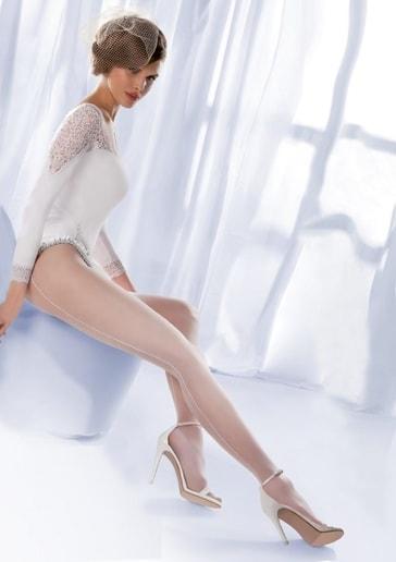 Gabriella Dámské punčochové kalhoty Charme 01 - 000/ bílá (bianco) - 3/M